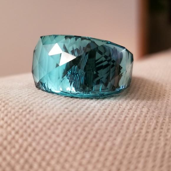 989acdd92 Swarovski Nirvana Silver Plated & Aqua Color Ring.  M_5c4e61aabb76151108c4cea2